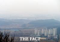 [TF포토] 미세먼지로 뒤덮인 인천국제공항