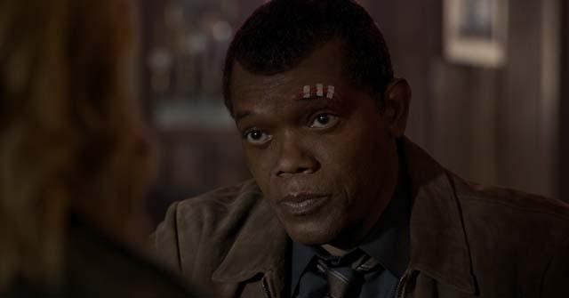 캡틴 마블에서는 사무엘L.잭슨의 두 눈을 뜨고 있는 모습을 볼 수 있다. /월트디즈니컴퍼니코리아 제공