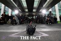 [TF포토] 김학의 전 차관, '검찰 불출석… 주인 잃은 포토라인'