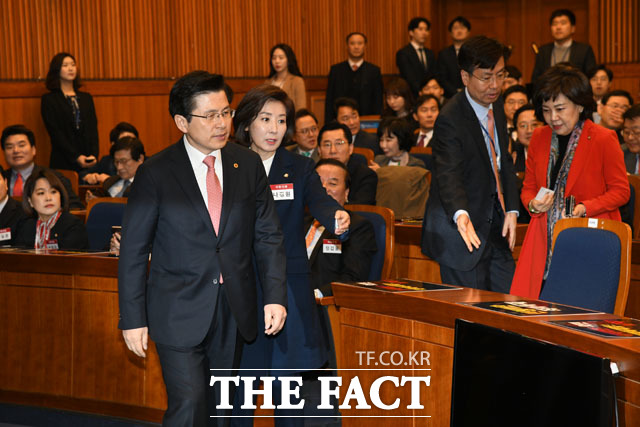 연석회의 참석하는 황교안 대표와 나경원 원내대표