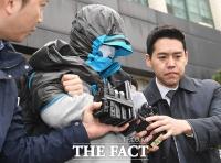 [TF포토] 얼굴 꽁꽁 싸맨 이희진 부모 살해범, '오늘 영장실질심사'