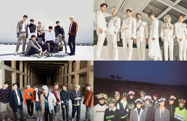 그룹 아이콘, 몬스타엑스, 스트레이 키즈, 더보이즈가 더팩트 뮤직 어워즈에 참석한다. /YG엔터테인먼트, 스타쉽엔터테인먼트, JYP, 크래커엔터테인먼트 제공