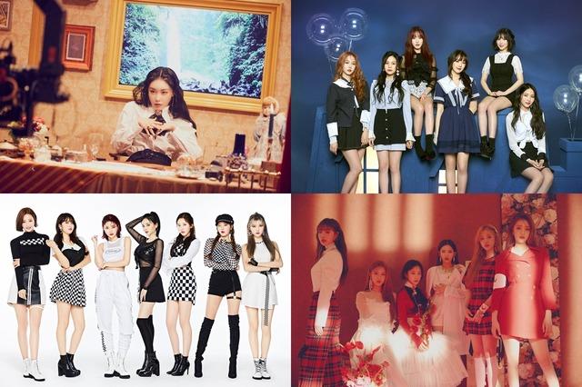 가수 청하, 그룹 여자친구, (여자)아이들, 모모랜드가 오는 4월 24일 개최되는 더팩트 뮤직 어워즈에 출연한다. /MNH엔터테인먼트, 쏘스뮤직, MLD엔터테인먼트, 큐브엔터테인먼트 제공