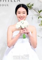 [TF포토] 4월의 신부 이정현, '행복하게 잘 살겠습니다~'