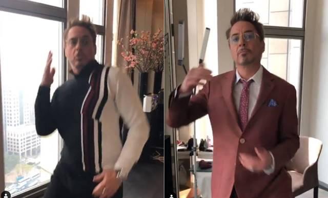 로버트 다우니 주니어가 자신의 인스타그램에 올린 춤 추는 영상. /로버트 다우니 주니어 인스타그램