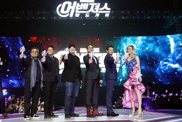 영화 '어벤져스:엔드게임' 내한 주역들이 아시아팬이벤트에 참석했다.  /월트디즈니컴퍼니코리아 제공