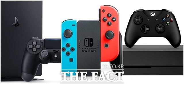 플레이스테이션4 프로 닌텐도 스위치 엑스박스 원 엑스(왼쪽부터) /각사 공식 홈페이지 캡처