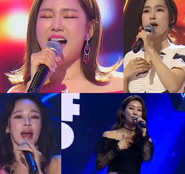 송가인, 홍자, 지원이, 김양이 TV조선 미스트롯 의 주역으로 꼽혔다. /TV조선 캡처