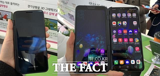 LG전자 경기도 평택 공장은 LG전자 스마트폰의 약 10~20%를 생산하고 있으며, 주로 프리미엄폰을 만들었다.  사진은 출시 예정인 'V50 씽큐' 모습. /서민지 기자