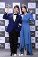 [TMA포토] 전현무-서현 '청량감 가득한 블루 패션'
