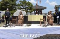 [TF포토] 4·27 판문점 선언 1주년, '평화의 소녀상' 공개