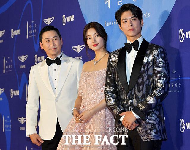 MC로 참석한 방송인 신동엽, 배우 수지, 박보검(왼쪽부터)