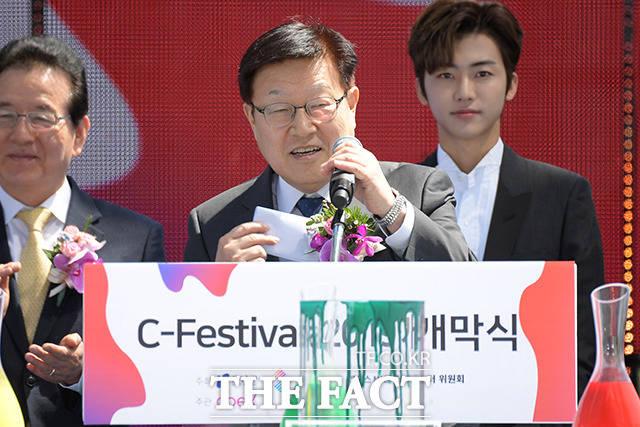 인사말 전하는 김영주 회장
