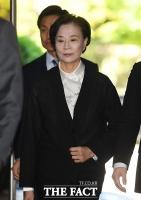 [TF포토] 묵묵부답으로 법정 출석하는 이명희 전 이사장