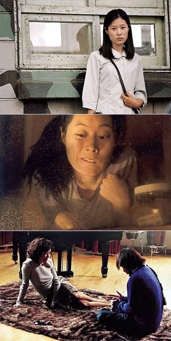 문소리가 출연한 영화 박하사탕(위쪽부터) 오아시스 바람난 가족/ 영화 박하사탕 오아시스 바람난 가족 스틸