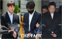 [TF포토] 나란히 포승줄에 묶인 '정준영 단톡방' 멤버들