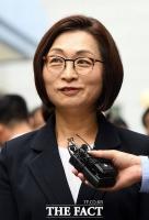 [TF포토] 정치자금법 위반 혐의로 법원 출석하는 은수미 성남시장