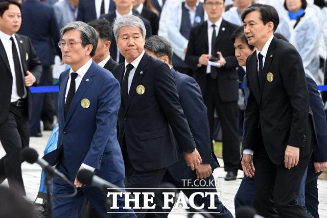 청와대 노영민 비서실장, 김수현 정책실장, 조국 민정수석 등 함께하는 참모진