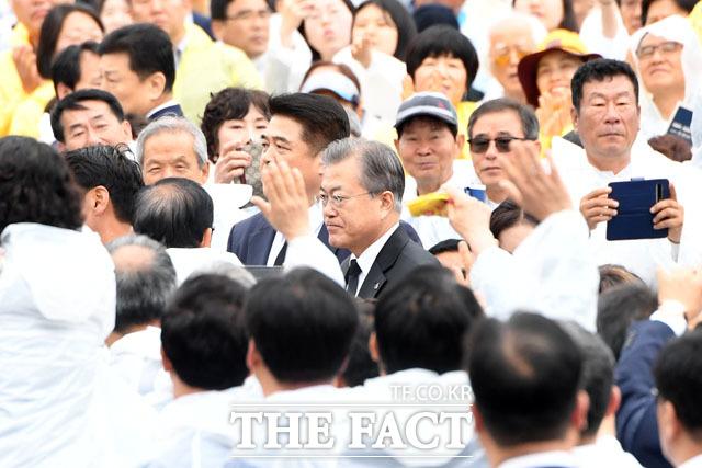 제39주년 5·18민주화운동 기념식 참석하는 문재인 대통령