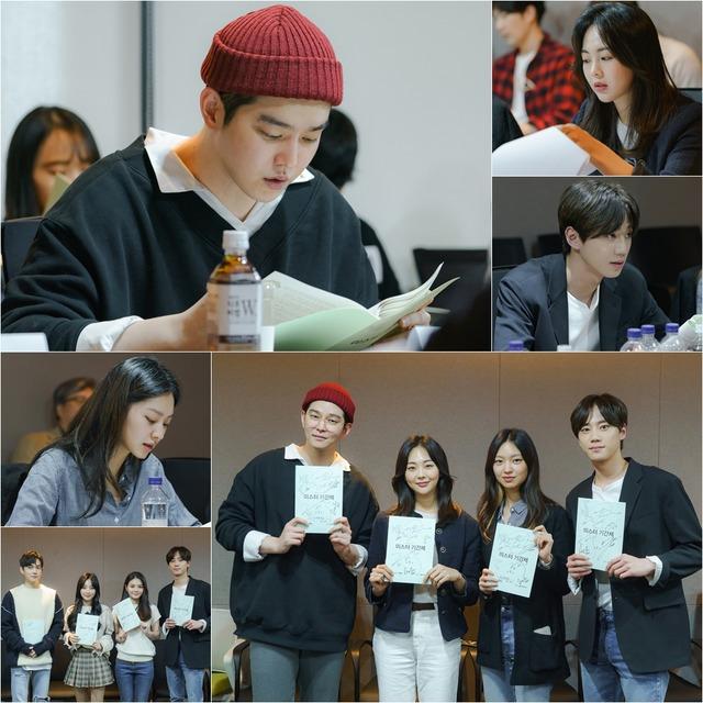 OCN 새 수목드라마 미스터 기간제 대본리딩에서 배우들이 열연을 펼쳤다. /OCN 제공