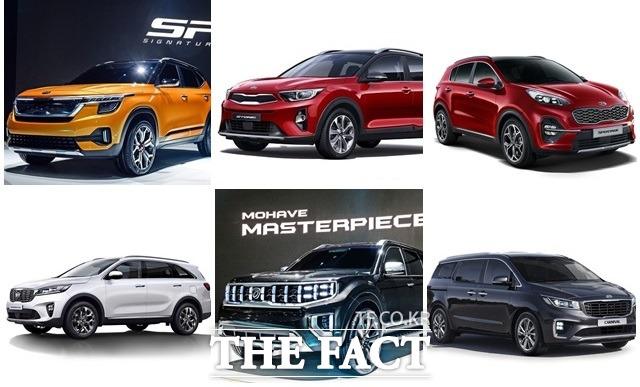 올해 하반기 하이클래스 소형 SUV와 신형 모하비가 출시되면 기아차는 스토닉→하이클래스 소형 SUV→스포티지→쏘렌토→신형 모하비로 이어지는 SUV 라인업을 갖추게 된다. /기아차 제공