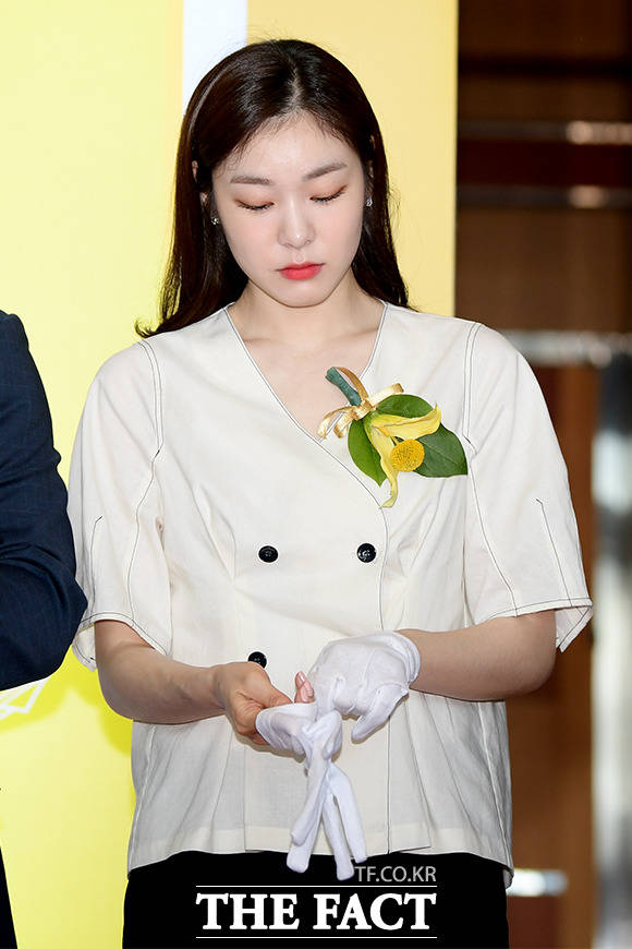 커팅식 준비하는 김연아
