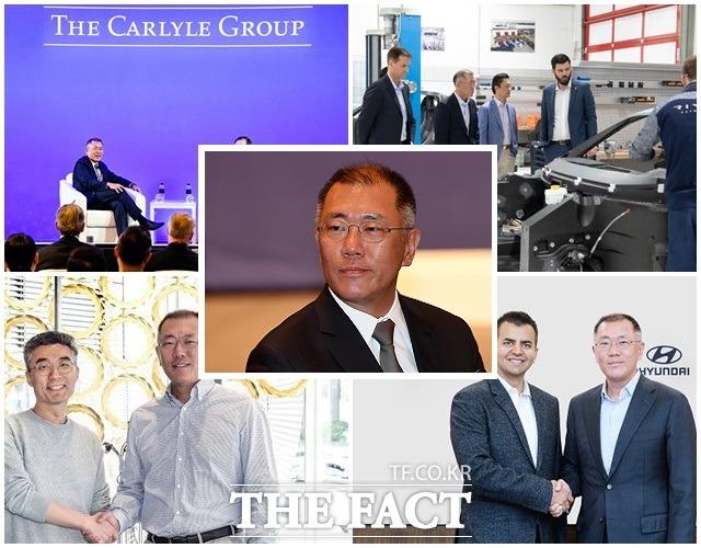 정의선 현대자동차그룹 총괄 수석부회장이 미래차 혁신 기술 연구개발 분야에 공격적인 투자를 단행하는 등 지속가능한 성장을 위한 대응전략에 속도를 높이고 있다. /현대자동차 그룹 제공