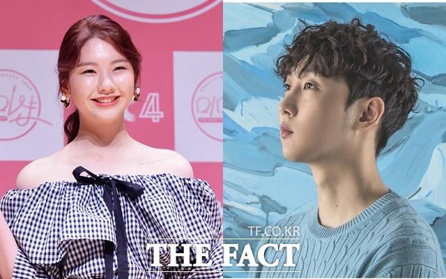 모델 겸 배우 김진경(왼쪽)과 래퍼 크루셜스타가 열애를 인정했다. /더팩트DB