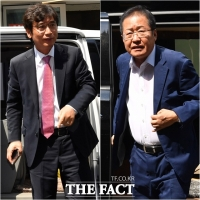 [TF포토] 유시민-홍준표, '홍카레오'로 맞짱토론