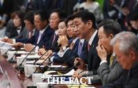 [TF포토] 국회 정무위원회와 마주앉은 금융투자업계 대표들