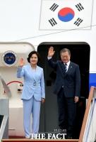 [TF포토] 북유럽 3개국 순방 떠나는 문재인 대통령