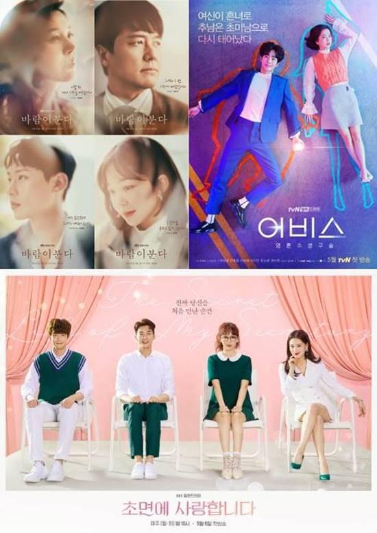 바람이 분다 어비스 초면에 사랑합니다 등이 시청자들의 외면을 받고 있다. /JTBC 바람이 분다 tvN 어비스 SBS 초면에 사랑합니다 포스터