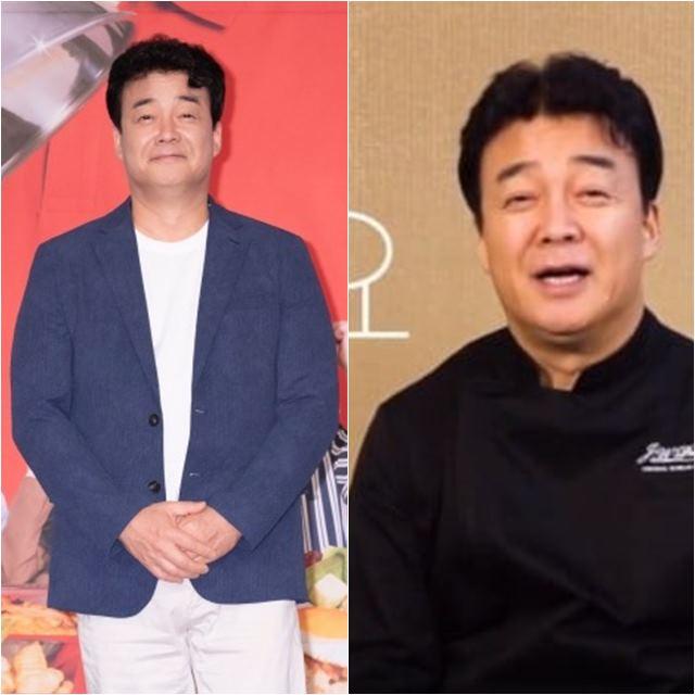 백종원이 지난 11일 tvN 고교급식왕 제작발표회를 가졌다. 같은 날 유튜브 채널도 개설했다. /tvN 제공, 백종원 유튜브 영상 캡처