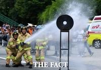 [TF포토] '화재 진압은 신속하고 정확하게!'