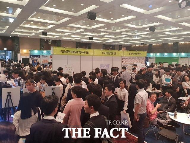 오는 9월 3일 서울 양재동 aT센터에서 제약바이오산업 채용박람회가 열린다. 사진은 지난해 9월 7일 여의도 중소기업중앙회에서 열린 2018 한국 제약·바이오산업 채용박람회의 모습. /더팩트 DB