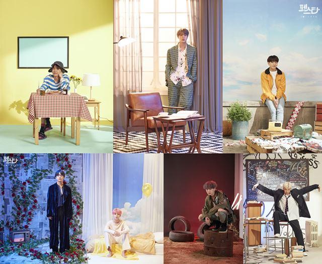 방탄소년단의 6주년을 맞아 그동안 공개한 멤버들의 솔로곡을 다시 표현하는 포스터가 공개됐다. /빅히트 엔터테인먼트