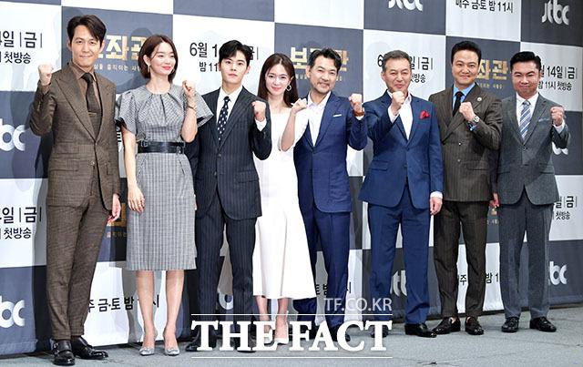 이정재, 신민아, 김동준, 이엘리야, 정진영, 김갑수, 정웅인, 임원희(왼쪽부터).