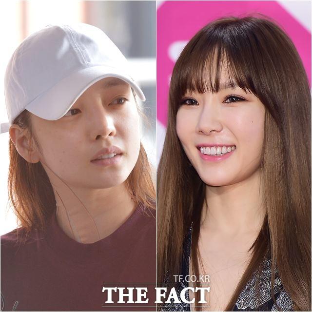 최근 가수 구하라(왼쪽)와 태연이 악성 댓글로 인한 우울증을 호소했다. /문병희 기자, 더팩트 DB