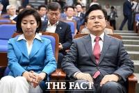 [TF포토] 나경원-황교안, 국회 복귀 두고 '고심하는 지도부'