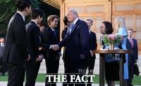 [TF포토] 청와대 만찬서 박세리 · 엑소 만난 트럼프