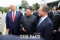 [TF포토] 남북미 정상 '역사상 첫 회동'