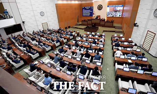 서울시의회 본회의장에서 열린 제288회 임시회 제1차 본회의