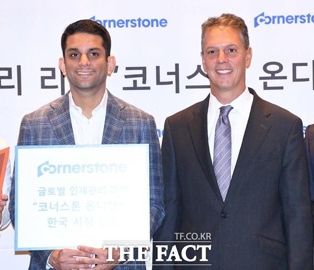 코너스톤 온디맨드 창립자 애덤 밀러 CEO(오른쪽)와 쉬락 샤 수석 부사장