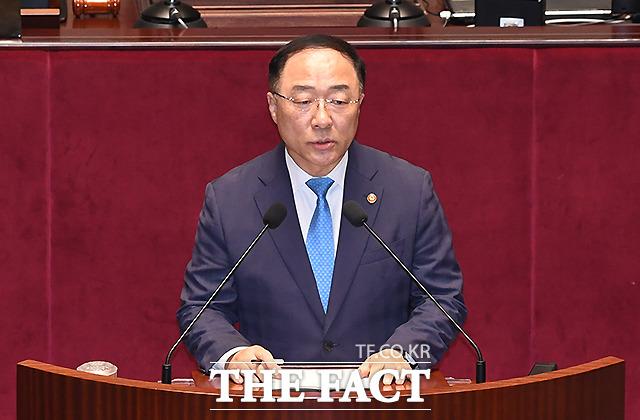추경안 제안 설명하는 홍남기 경제부총리 겸 기획재정부 장관