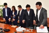 [TF포토] 청년 대표들과 국회 찾은 박용만 회장