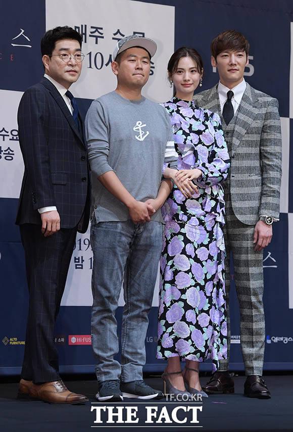 손현주와 조웅 감독, 나나, 최진혁(왼쪽부터)