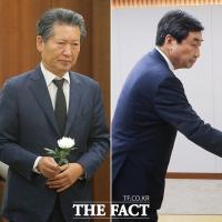 [TF포토] 정청래-이종걸 '고 정두언 전 의원 빈소 조문'