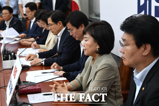 공식 회의 발언에선 5·18 망언 논란 관련 사과는 없었다. /남윤호 기자
