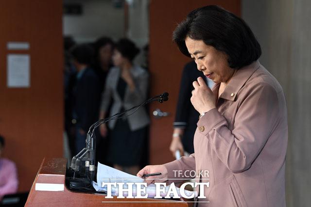 박순자 의원은 나경원 원내대표가 공천에 지장이 있을 것이라고 협박했다고 주장하기도 했다. /남윤호 기자