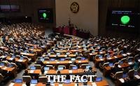 [TF포토] 국회, 일본 보복적 수출 규제 철회 촉구 결의안 '만장일치' 채택